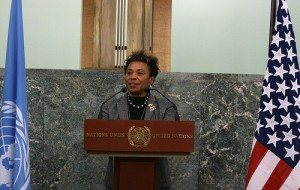 Congresswoman Barbara Lee giving opening remarks