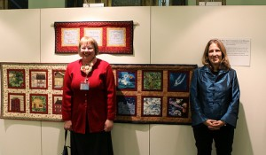Quilters Laurel Adamsen and Valorie Fanger of the American International Women's Club of Geneva