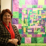 Quilter Dorothy Stockwell with her Quilt Modus Operendi