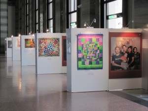 Quilts paired with Global Fund Photos