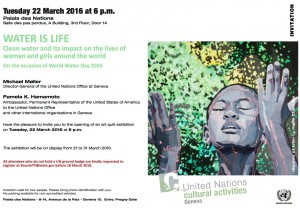 Official Invitation to the March 22 Opening at United Nations Headquarters, Geneva, Switzerland