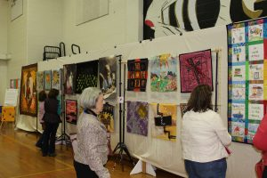Solar Sister exhibit at Narragansett Bay Quilters Association Show, April 2016