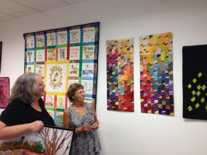 Artist Barbara Eisenstein at the Artist and Makers Studio opening in September 2016
