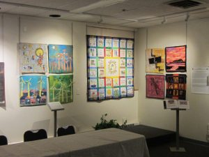 Solar Sister exhibit at the New England Quilt Museum