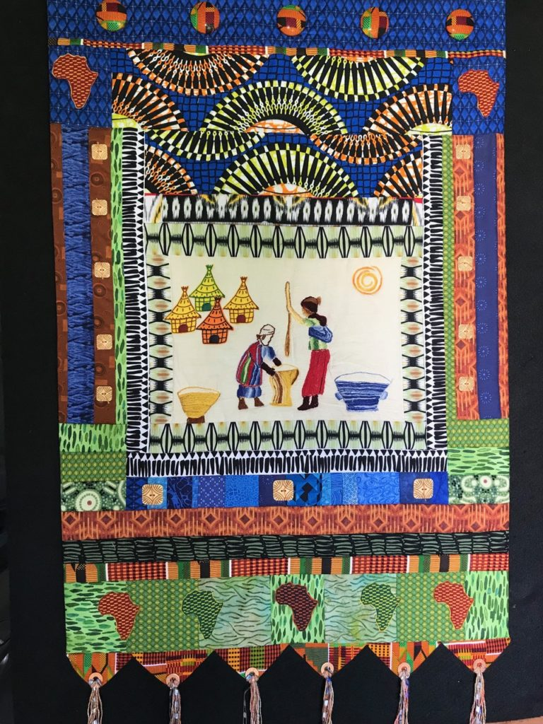 Sister Artists Quilt by Janice Jones